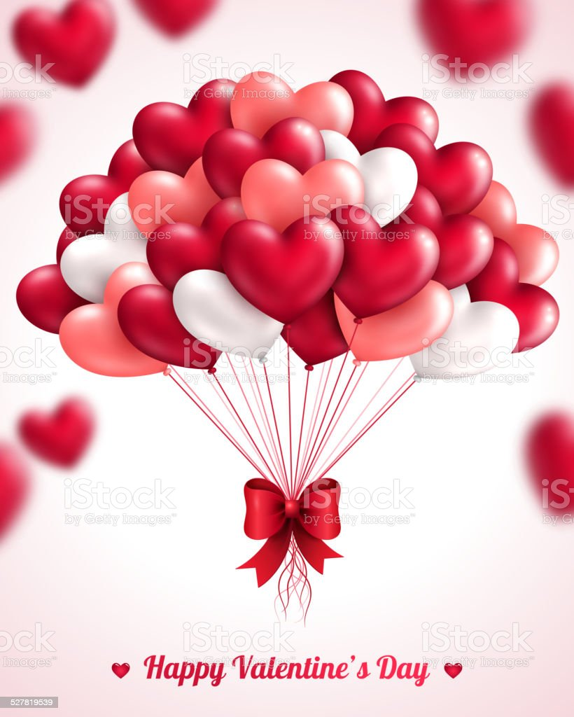 valentines day background with heart balloons stock vector art