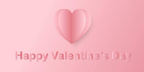 Valentines day background with heart pattern and typography of happy valentines day text . Symbols of love greeting card design. - Vector