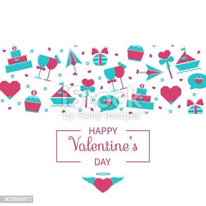 Valentinstagbanner Hintergrund Header Kartenvorlage Mit Niedlichen ...
