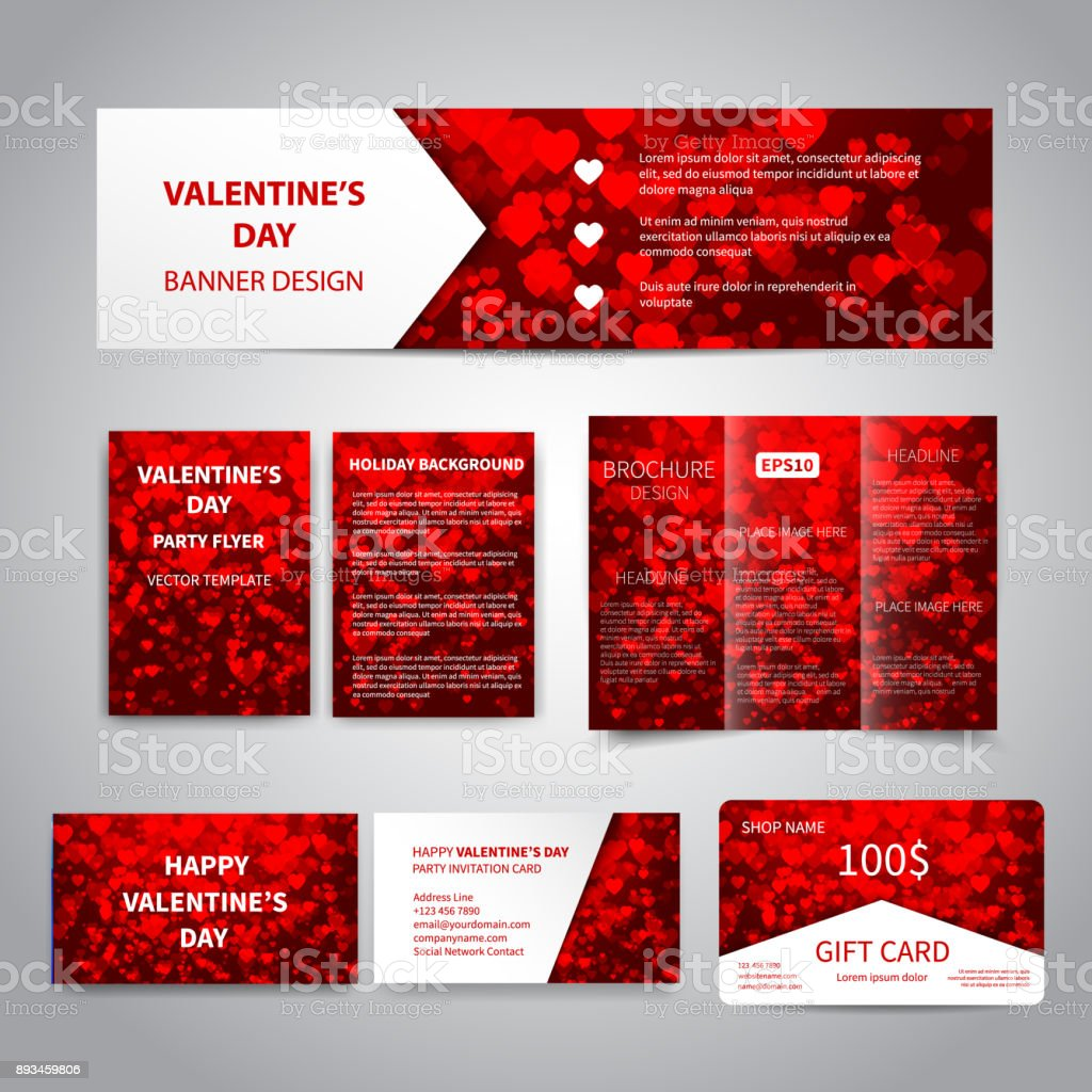 Valentine's Day banner vector art illustration