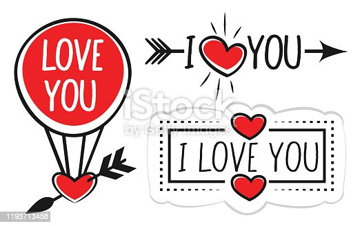 istock Valentines Day Banner with Hearts 1193713458