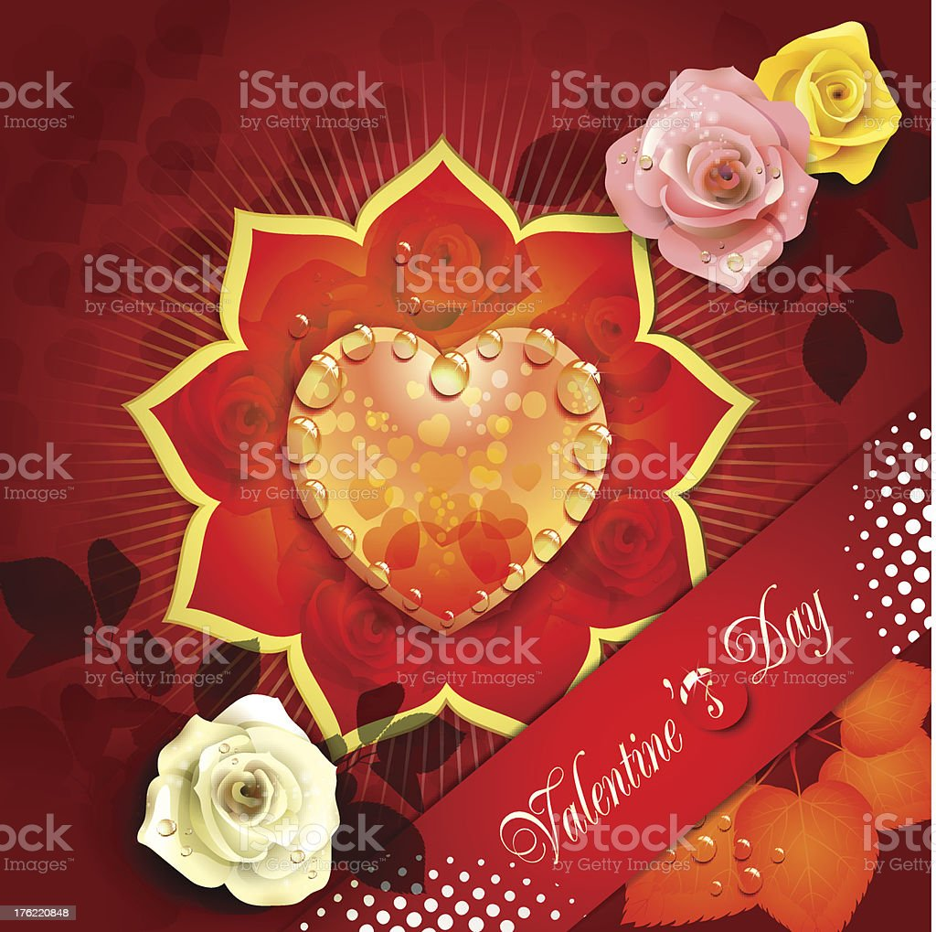 Valentine's day caard royalty-free valentines day caard stock vector art & more images of colors