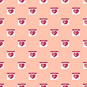 Valentine's Day Calendar Seamless Pattern