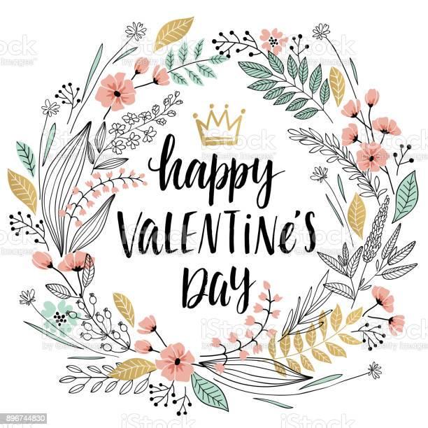 Valentines day callygraphic wreath hand drawn vector id896744830?b=1&k=6&m=896744830&s=612x612&h=ozddgr4j3ff0ekjvfu5jbplig4p imgyvzv25m0kn7w=