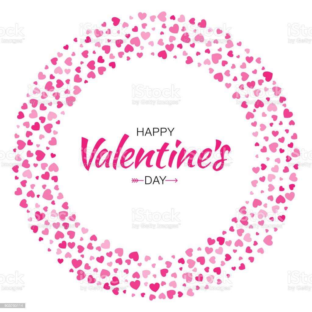 Ilustración de Diseño De Tarjeta Del Día De San Valentín Marco De ...