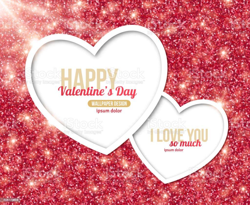 Valentinstagcard Design Mit Herz Stock Vektor Art und mehr Bilder ...