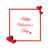 istock Valentine's Day Card Hearts With White Background With Text Banner 900730966