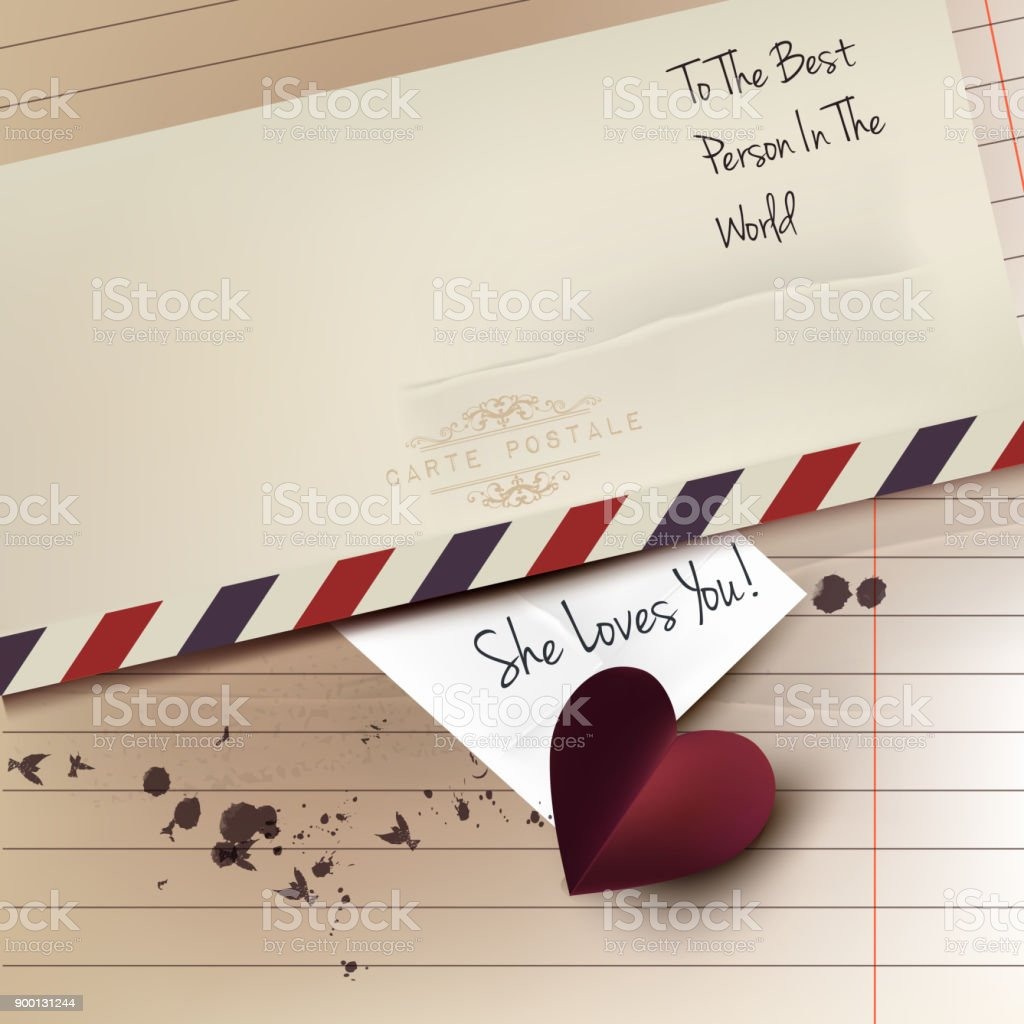 Valentines Day Card Or Save The Date With Red Heart Paper And