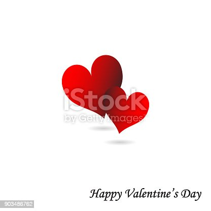 istock Valentine's Day Card Red Hearts With White Background Wedding Mother's Day 903486762
