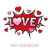 Valentine's Day Card. - Illustration