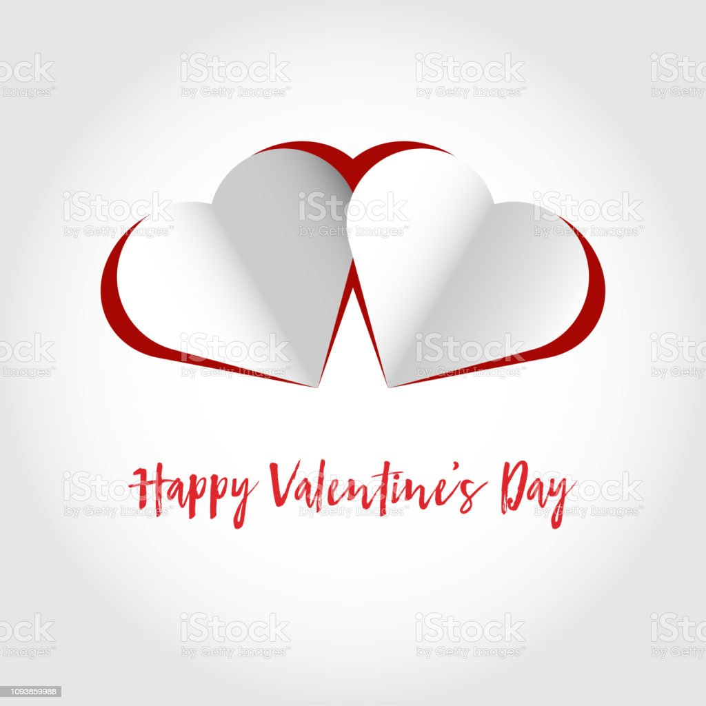 Valentines Day card vector art illustration
