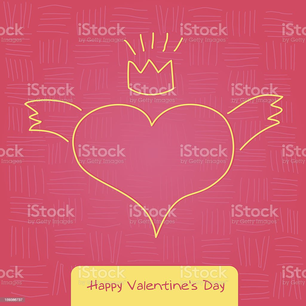 Valentine's Day card royalty-free valentines day card stock vector art & more images of animal body part