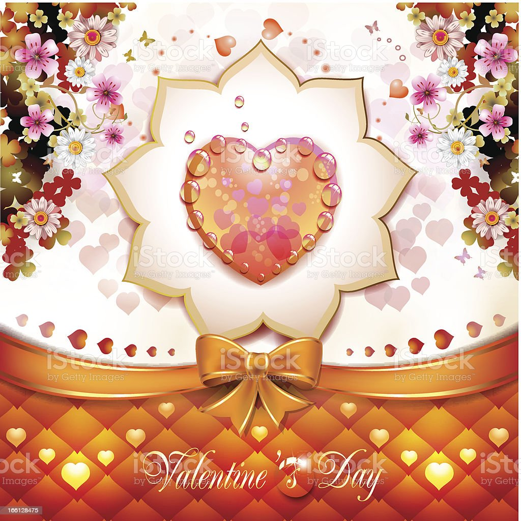 Valentine's day card royalty-free valentines day card stock vector art & more images of beauty
