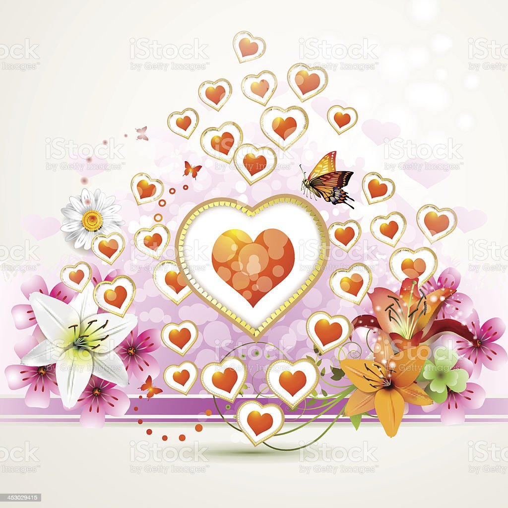 Valentine's day card royalty-free valentines day card stock vector art & more images of butterfly - insect