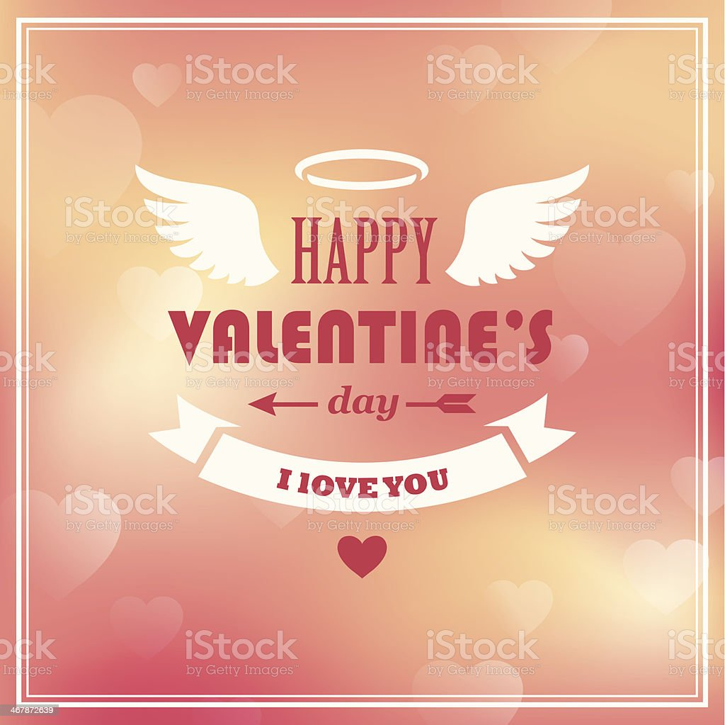 Valentines day card vector art illustration