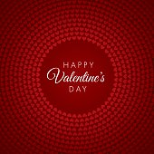Valentine's day vector illustration, background with red hearts