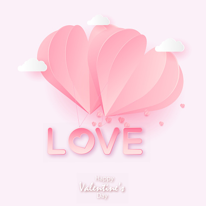 Happy Valentines Day Card Wirh Origami Stock Vector (Royalty Free ... | 416x416