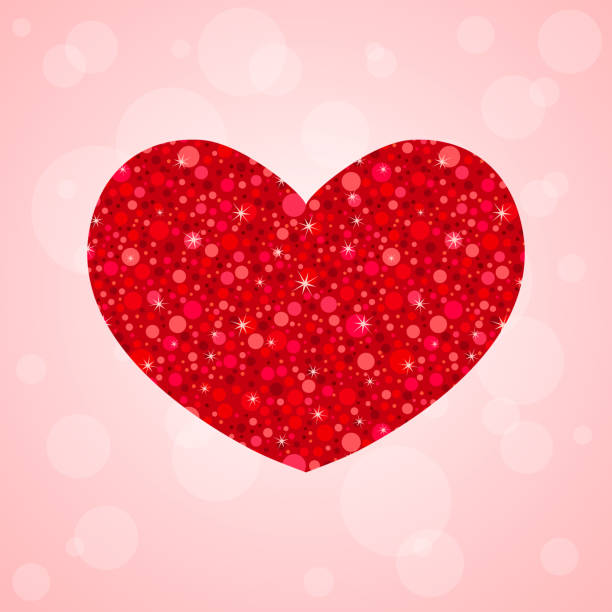 bildbanksillustrationer, clip art samt tecknat material och ikoner med alla hjärtans dag-kort med glitter hjärta form - sparkle teen girl