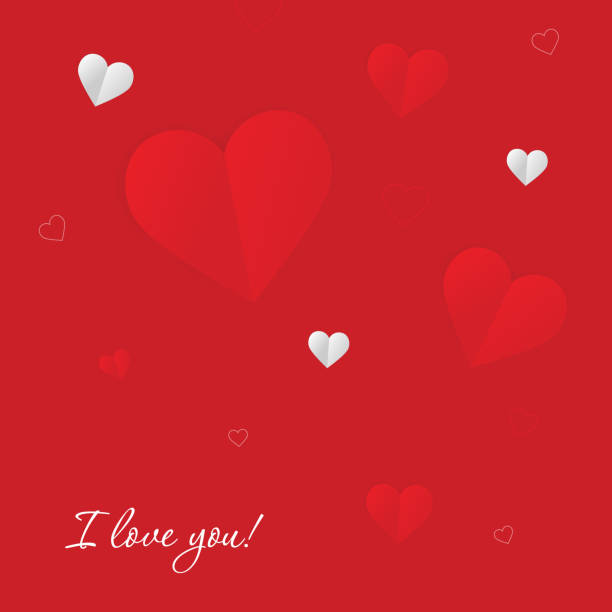 Valentines day. Card with love. Vector background – artystyczna grafika wektorowa