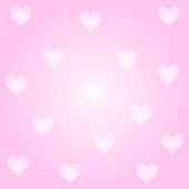 Vector Valentine's Day Card With Pink Background And Hearts