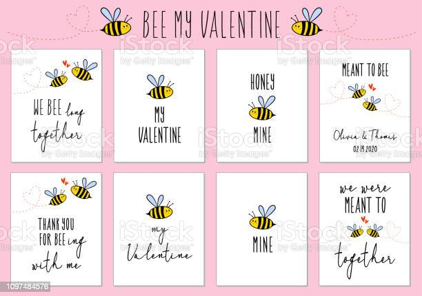 Valentines day cards with cute bee vector set vector id1097484576?b=1&k=6&m=1097484576&s=612x612&h=op2prfwd 49f07g0tkhsxj2u206fwdwkkafcnswbmjm=
