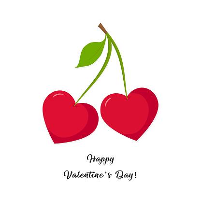 Valentines day, cherry