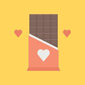 Valentines day chocolate icon