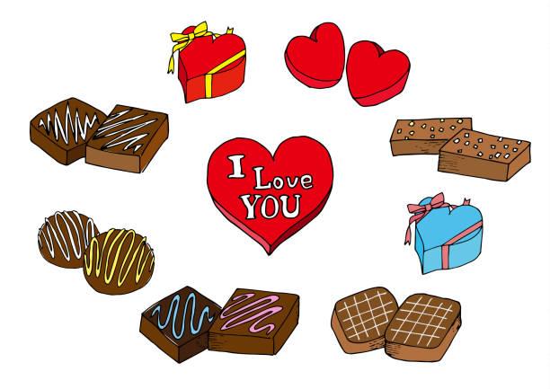 バレンタインデーのチョコレート ベクターアートイラスト