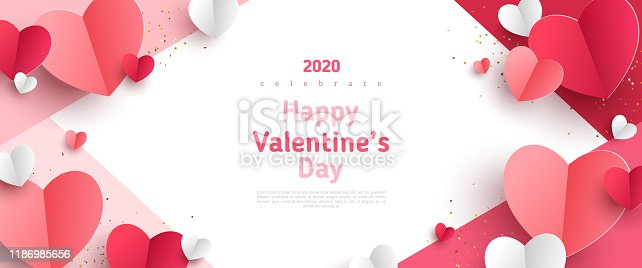 istock Valentines day concept frame 1186985656
