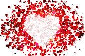 Valentines day confetti.