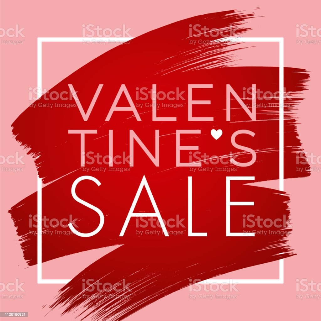 Valentine's Day design for advertising, banners, leaflets and flyers. vector art illustration