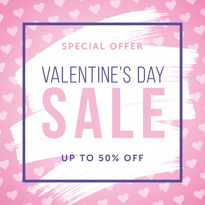 Valentine's Day design for advertising, banners, leaflets and flyers.