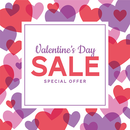 Valentine's Day design for advertising, banners, leaflets and flyers