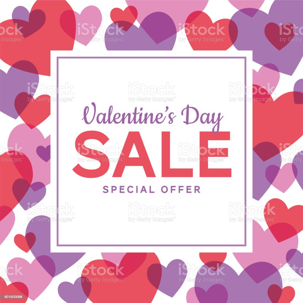 Valentine's Day design for advertising, banners, leaflets and flyers vector art illustration