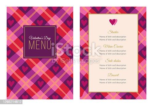 istock Valentines Day Dinner Menu. 1295214812