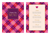 istock Valentines Day Dinner Menu. 1295214812