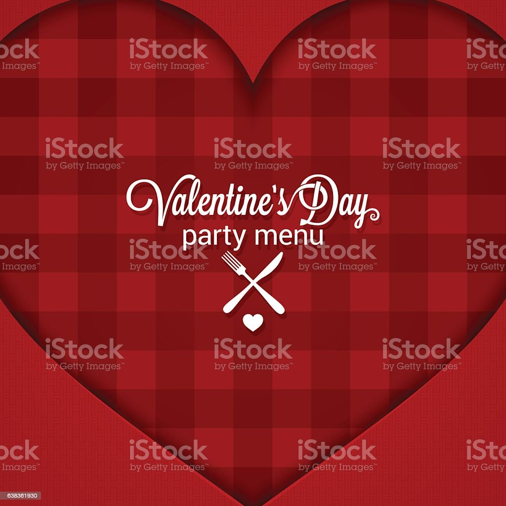 Valentines Day Dinner Party Menu Background Stock Vector Art More