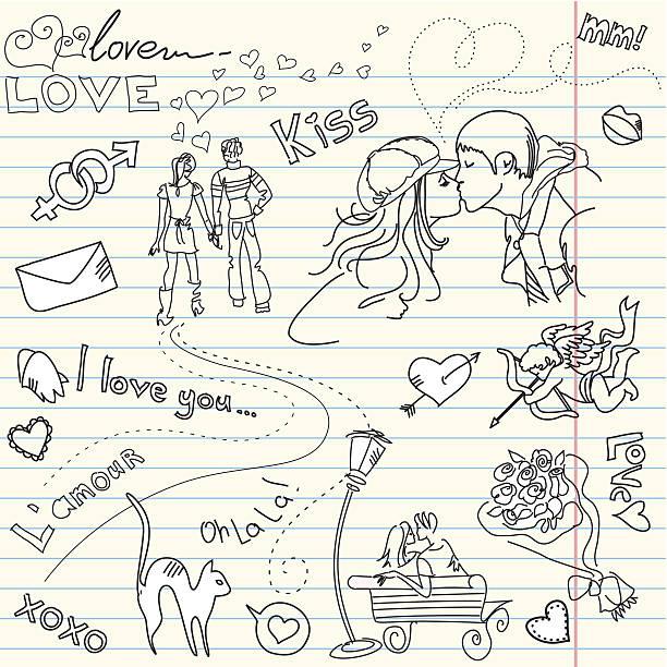 Valentine's Day Doodle vector art illustration