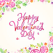 Celebrate the Valentine's Day with flowers of rose on the background