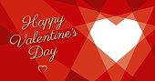Valentine's Day Geometric Heart - Illustration