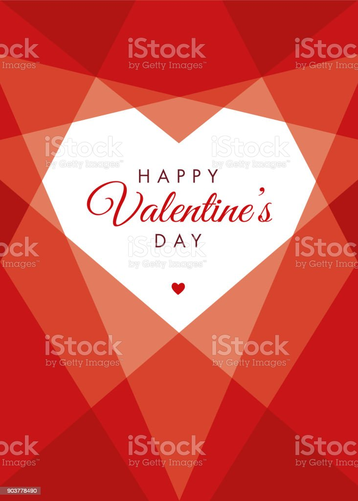 Valentine's Day Geometric Heart royalty-free valentines day geometric heart stock vector art & more images of abstract