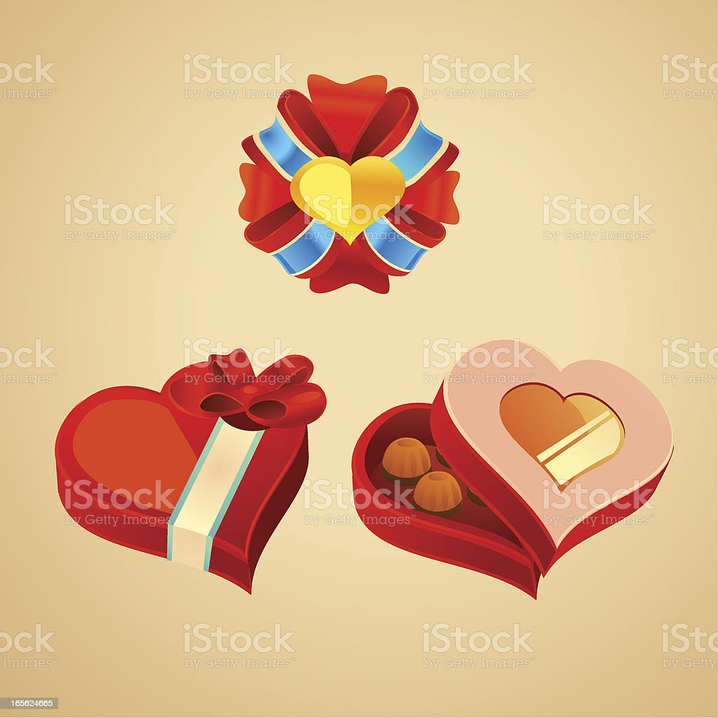 Valentine's Day Gift Box vector art illustration