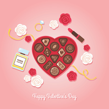 Valentine's day gifts, heart shape chocolate candy box