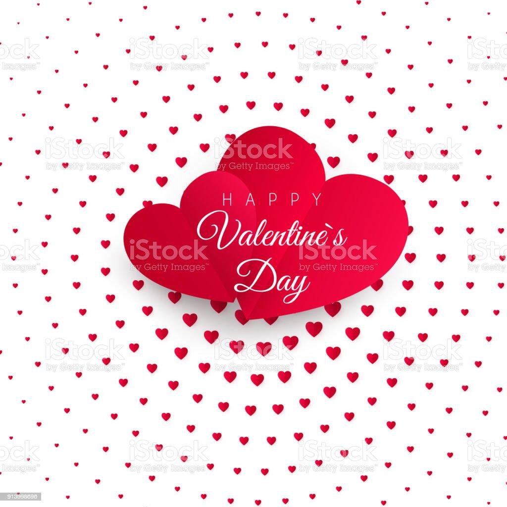 Valentines day greeting card halftone confetti red heart on white valentines day greeting card halftone confetti red heart on white background with text happy valentines m4hsunfo