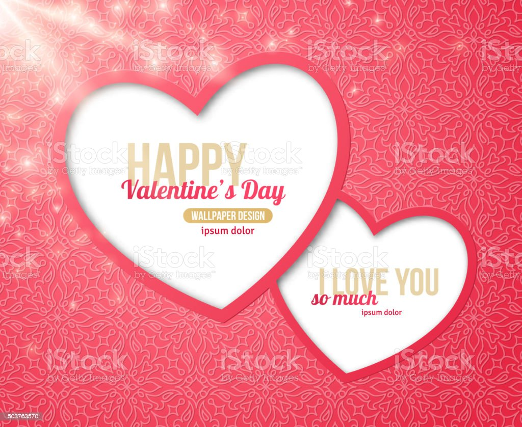 Valentines day greeting card two hearts frame stock vector art valentines day greeting card two hearts frame royalty free valentines day greeting card two hearts kristyandbryce Image collections