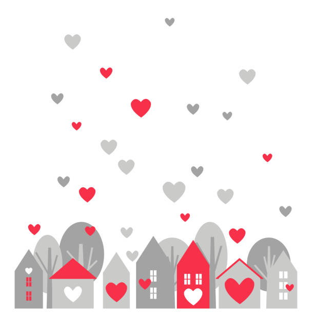 ilustraciones, imágenes clip art, dibujos animados e iconos de stock de tarjeta de felicitación del día de san valentín. - conceptos y temas