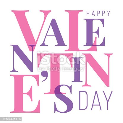 istock Valentine's Day greeting card. 1294305114
