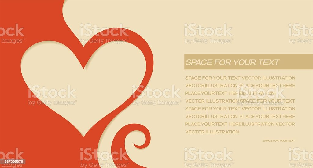 Valentines day greeting card vector art illustration