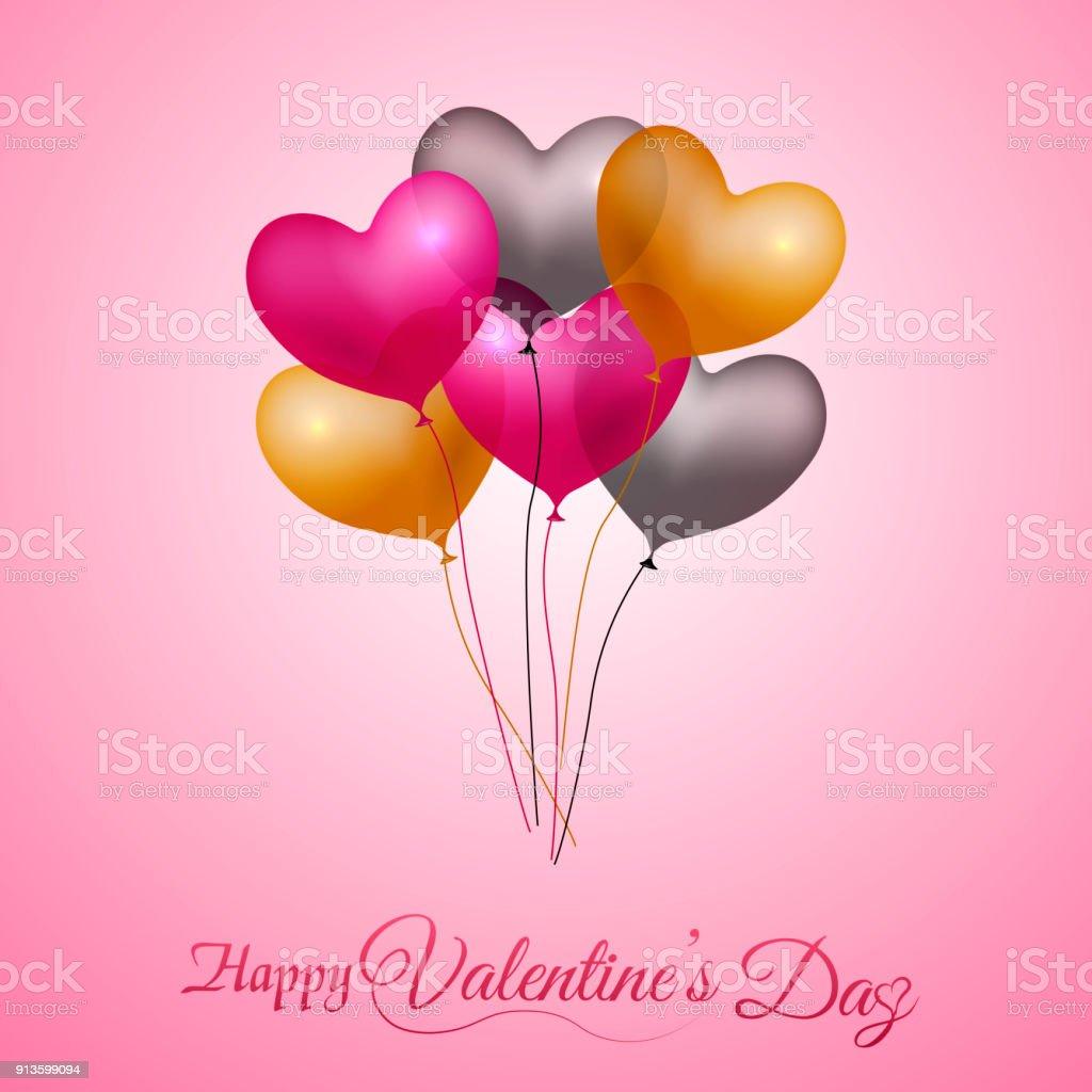 Ilustración de Tarjeta De Felicitación Día De San Valentín Con ...