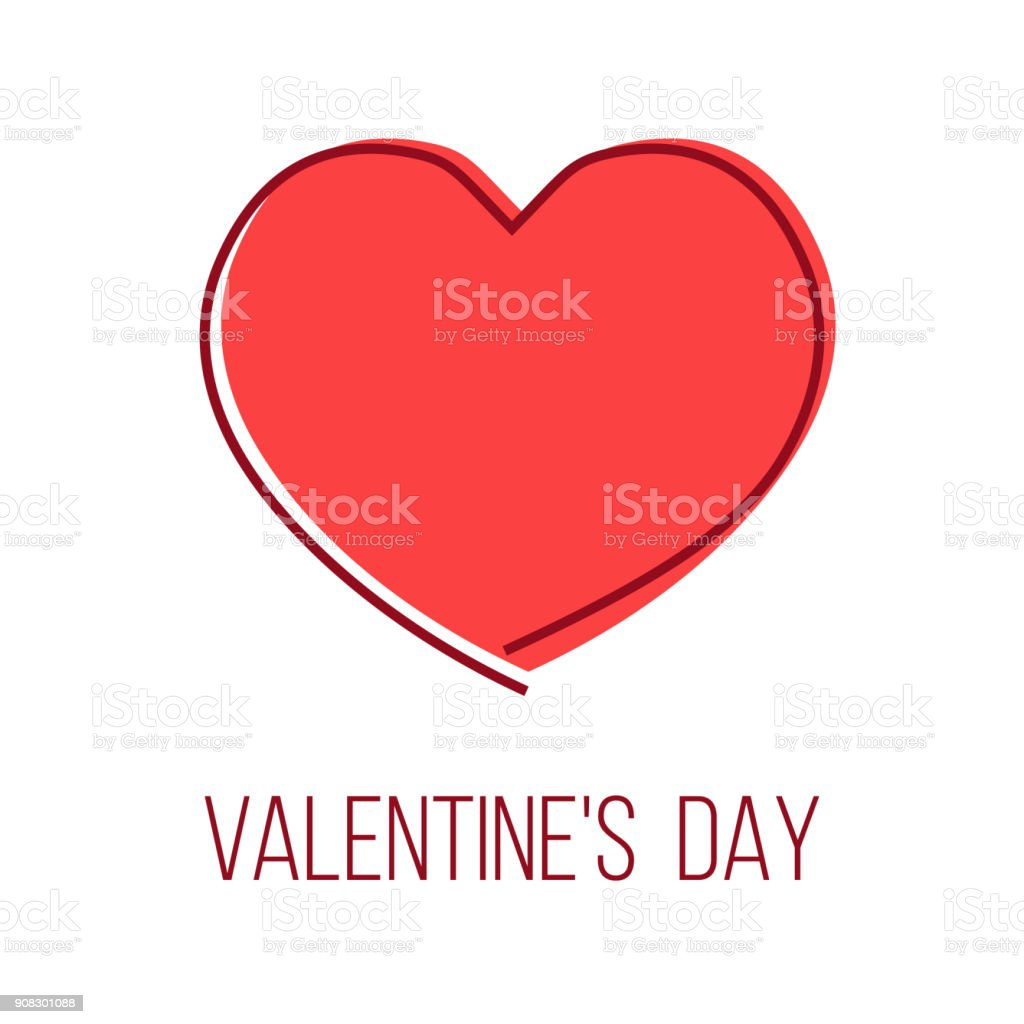 valentine's day greeting card with heart shape